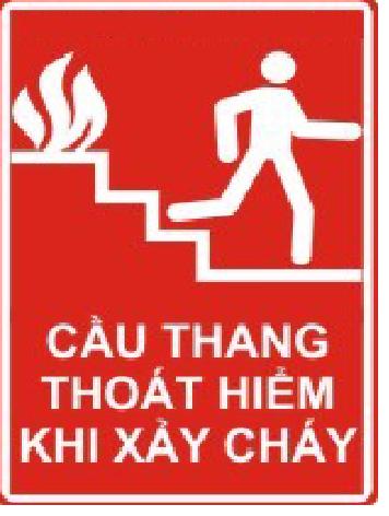 Cầu thang thoát hiểm khi cháy